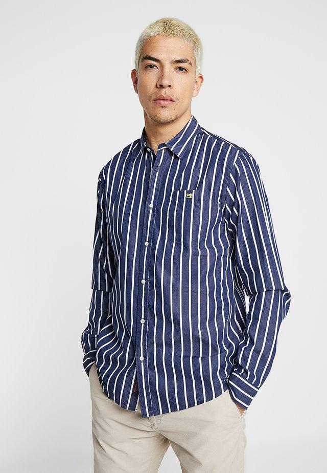 REGULAR FIT CLASSIC BRETON STRIPE - Camisa - dark blue