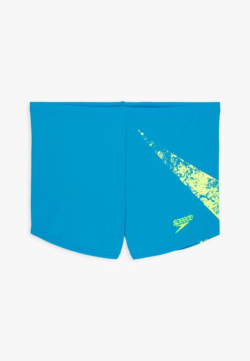 Speedo - BOOMSTAR PLACEMENT AQUASHORT - Swimming trunks - pool/fluorecent yellow