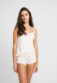 AMOSTYLE - COLLABORATION POLY - Spodnie od piżamy - pink light combination - 1