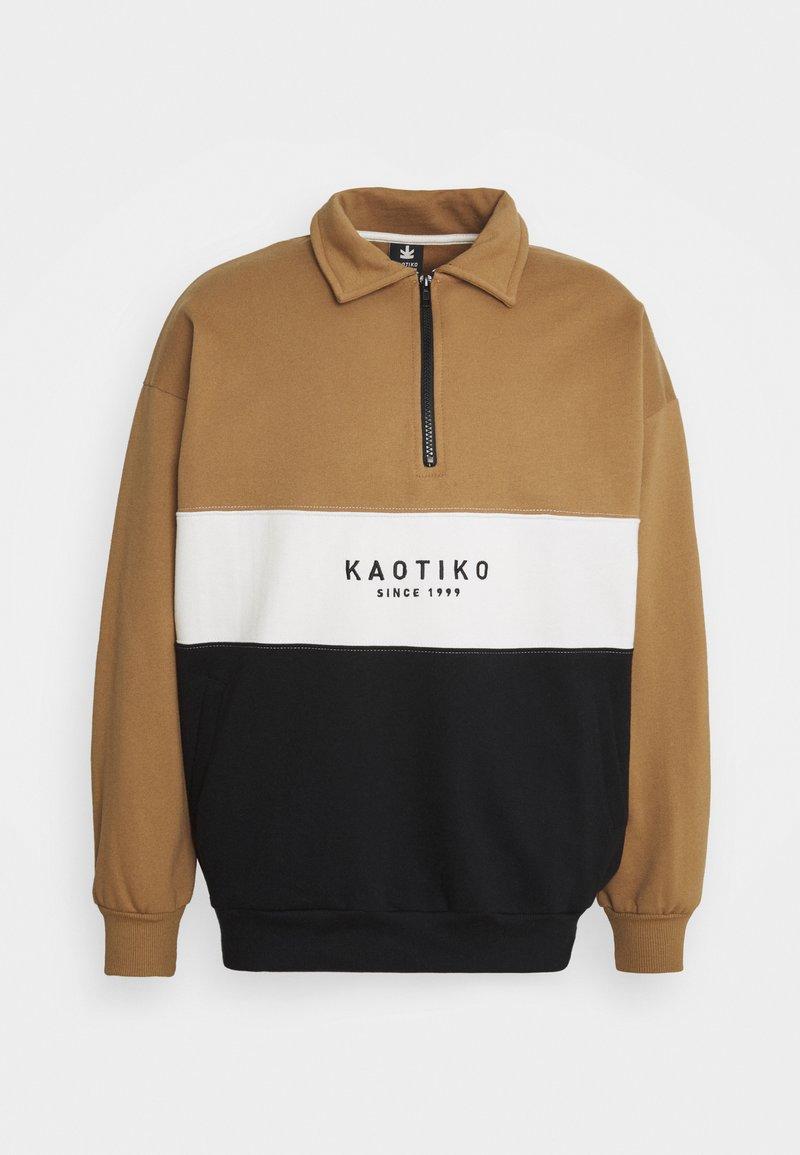 Kaotiko - CREW COONOR UNISEX - Zip-up hoodie - sand