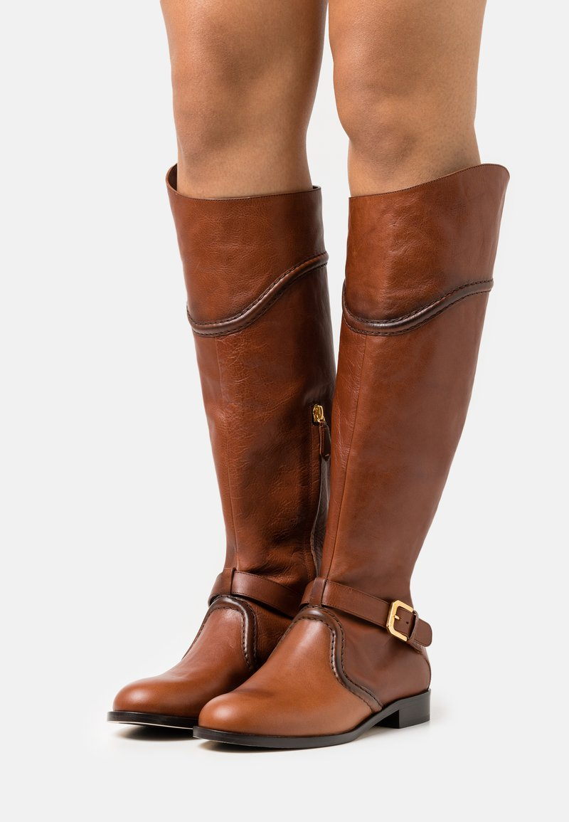 Alberta Ferretti - RIDING - Kovbojské/motorkářské boty - brown