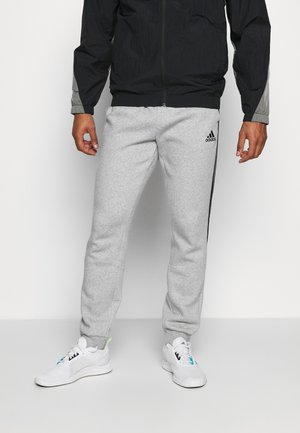 CUT - Tracksuit bottoms - medium grey heather/black