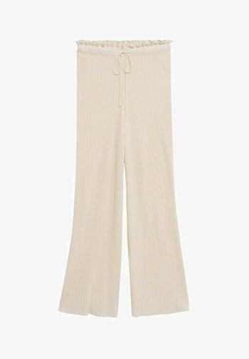 Trousers - blanco marfil