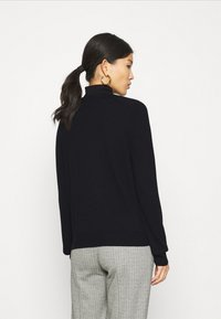 Marc O'Polo - CARDIGAN LONGSLEEVE BUTTON CLOSURE SADDLE SHOULDER - Cardigan - black - 2