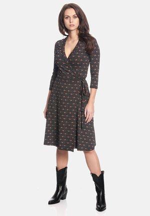 Day dress - schwarz allover