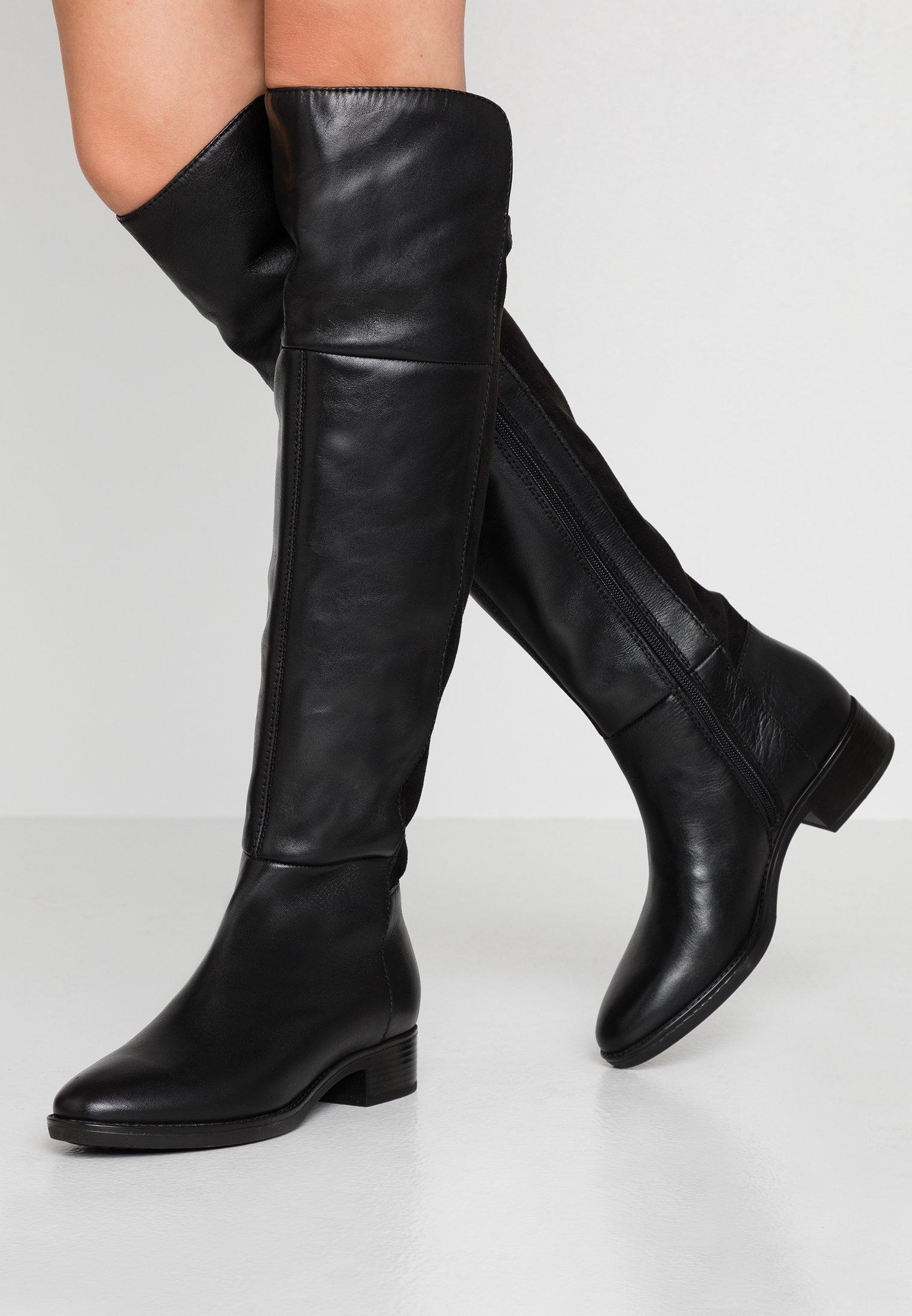 mordedura es bonito cristiano  Geox FELICITY - Over-the-knee boots - black - Zalando.de