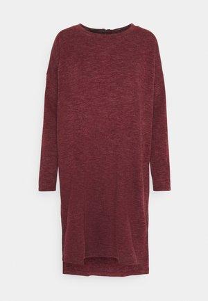 VMAMAIMARCO O NECK DRESS - Jumper dress - cabernet melange