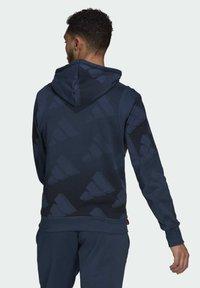 adidas Originals - FI Graphic PO BD MUST HAVES SPORTS RELAXED SWEATSHIRT HOODIE - Luvtröja - blue - 2