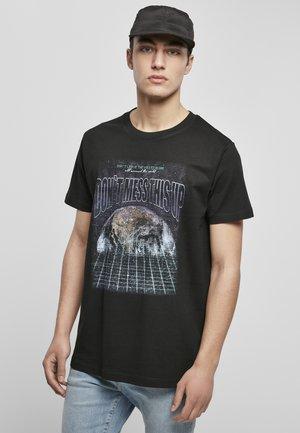 DON´T MESS THIS UP  - T-shirt imprimé - black