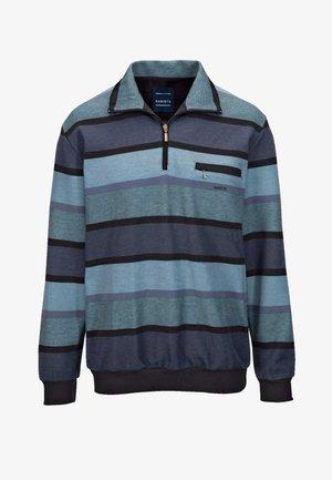Sweatshirt - blau,schwarz