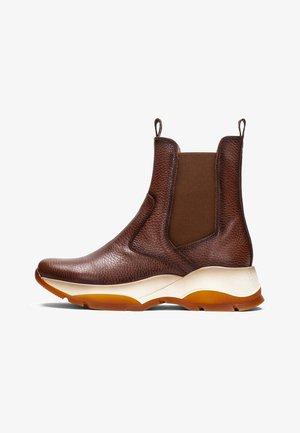 ANDES - Platform ankle boots - cuero