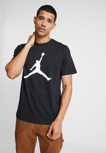 JUMPMAN CREW - T-shirt z nadrukiem - black/white