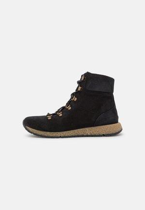 CECILY - Šněrovací kotníkové boty - black