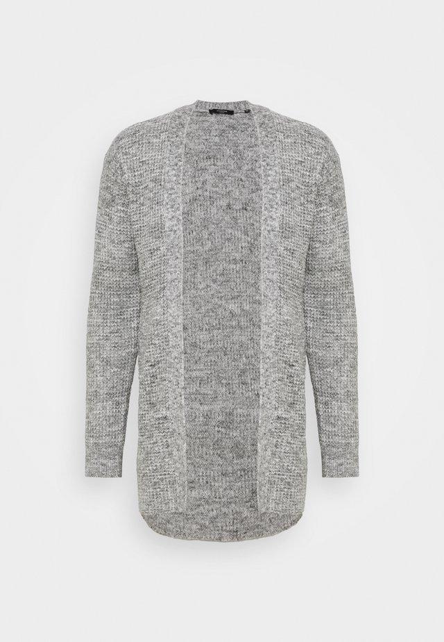 JPRBLAFREE OPEN CARDIGAN - Strikjakke /Cardigans - light grey melange
