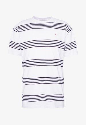 DOUBLE STRIPE - T-shirt med print - white / navy