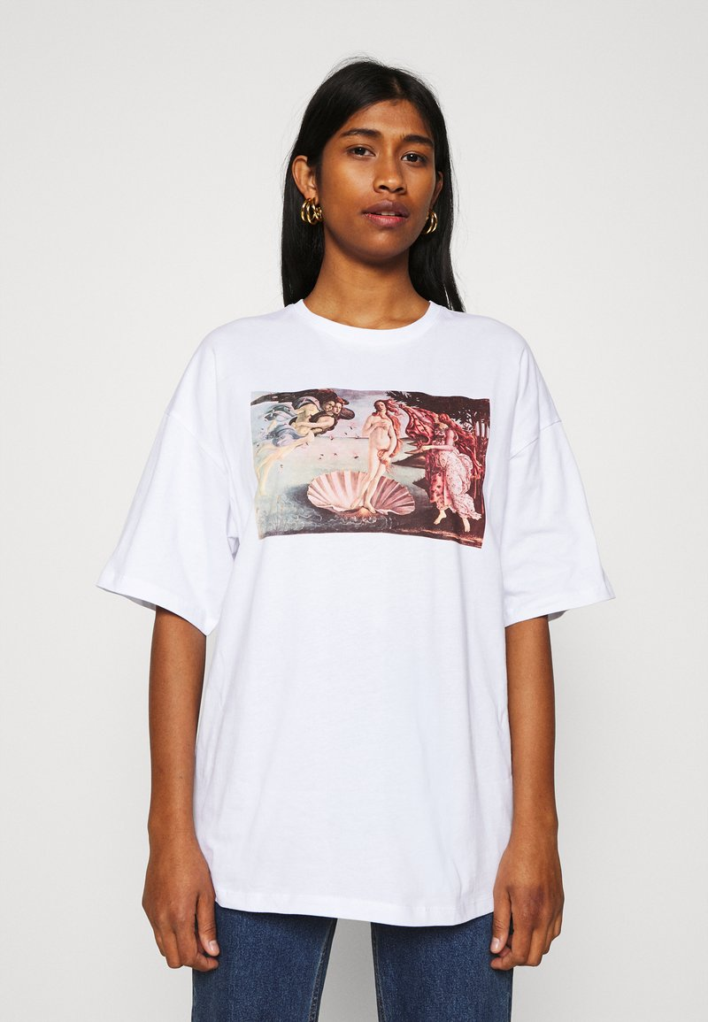 Even&Odd - T-shirts med print - white