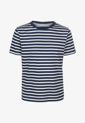 Print T-shirt - darkblue-white