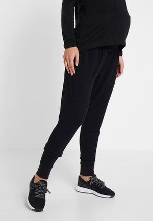 DROP CROTCH STUDIO PANT - Pantalones deportivos - black