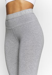 Deha - LEGGINGS - Medias - grey melange - 4