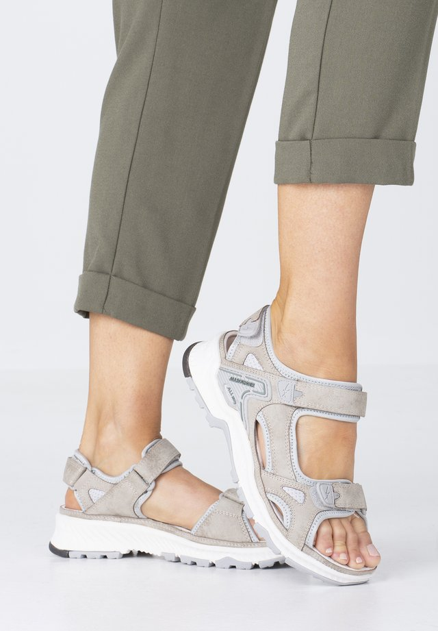 WESTSIDE - Walking sandals - taupe/glacier grey