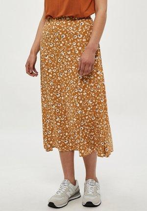 LEAH  - A-line skirt - spruce yellow pr