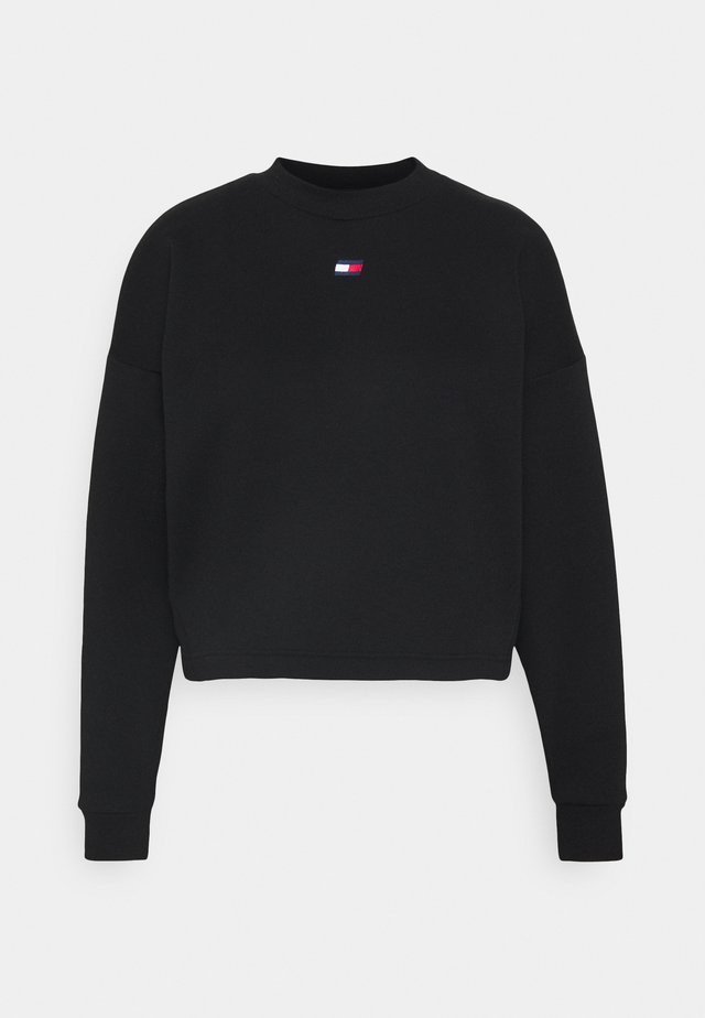CROPPED CREW LOGO - Sweatshirt - black