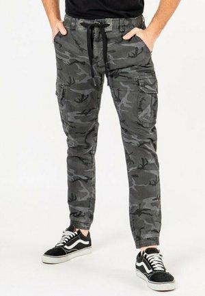 Cargo trousers - camo grau