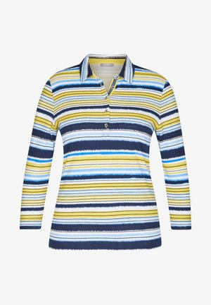 MIT GESTREIFTEM MUSTER - Polo shirt - dunkelblau