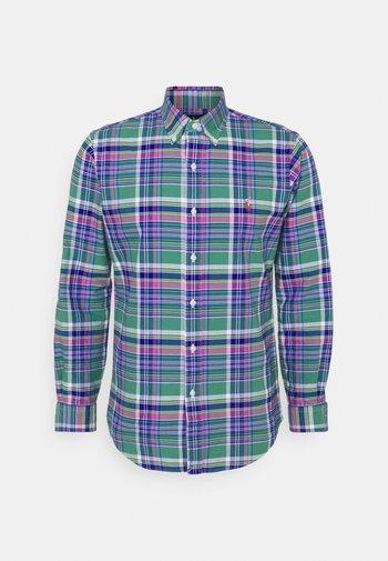CUSTOM FIT PLAID OXFORD SHIRT - Camicia - green/pink multi