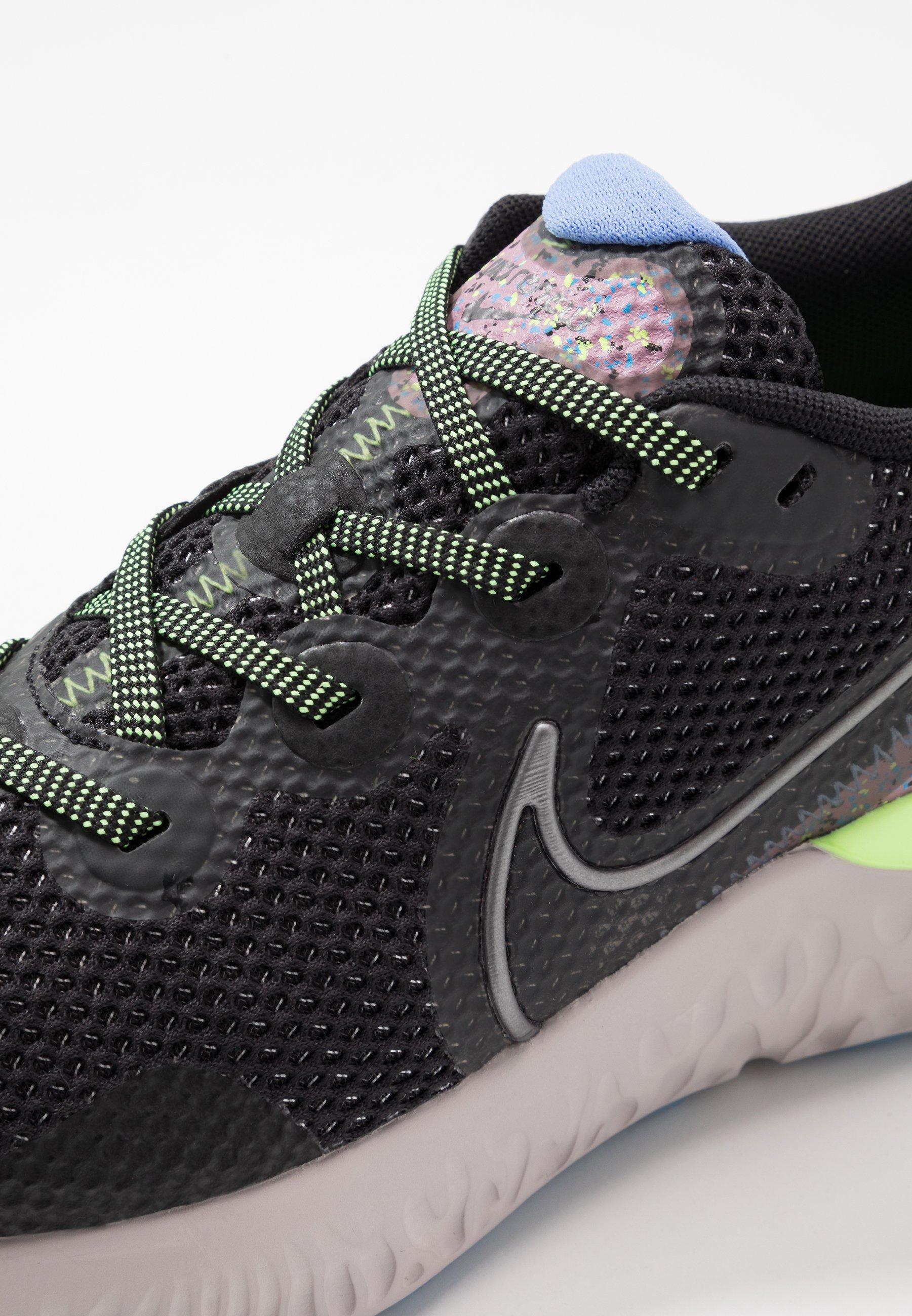 Nike Performance Renew Run Se - Neutrale Løbesko Black/metallic Dark Grey/plum Dust/royal Pulse/ghost Green/platinum Violet
