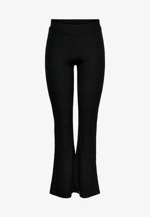 ONLNELLA FLARED PANT - Leggings - black