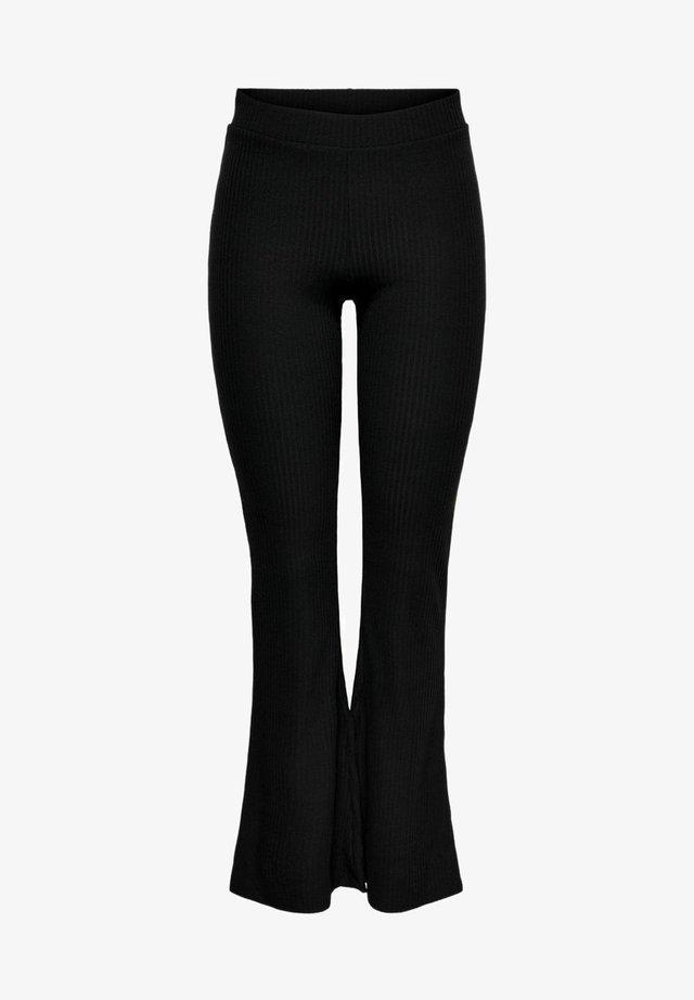 ONLNELLA FLARED PANT - Legging - black