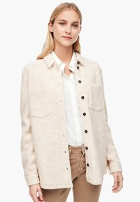 s.Oliver - Button-down blouse - light sand melange - 0