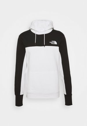HMLYN HOODIE - Jersey con capucha - white/black