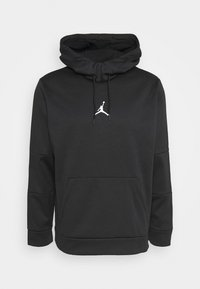 Jordan - AIR THERMA - Bluza z kapturem - black/black/(white) - 4