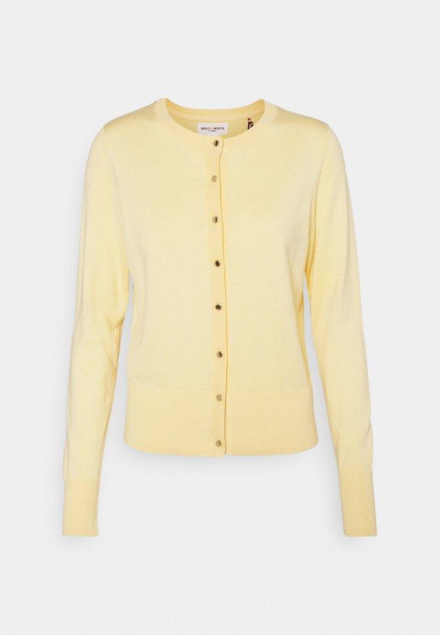 CARDIGAN ANNA - Neuletakki - light yellow