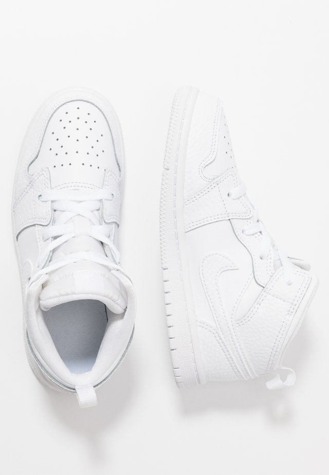 1 MID - Basketball shoes - white