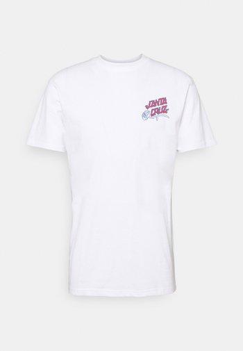 DRESSEN ROSES CLUB UNISEX  - Print T-shirt - white