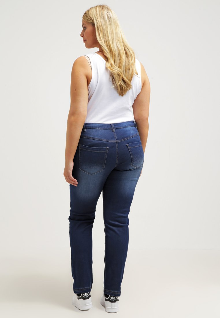 Zizzi EMILY - Slim fit jeans - blue denim - Women's Clothing lrXcq