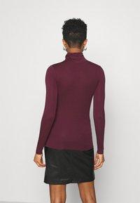 New Look - ROLL NECK - Long sleeved top - dark burgundy - 3