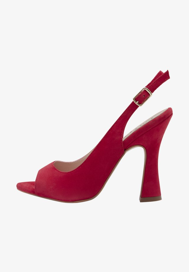 RUBY - Peeptoes - red