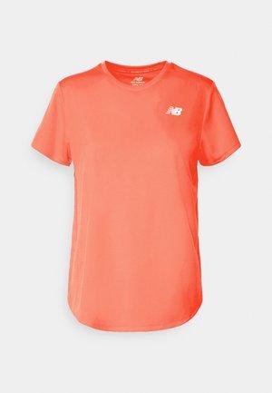 ACCELERATE SHORT SLEEVE - Camiseta básica - vivid coral