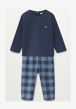 LONG EN COTON - Pyjama - bleu marine foncé