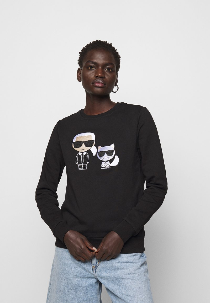 KARL LAGERFELD - IKONIK CHOUPETTE - Sweatshirt - black