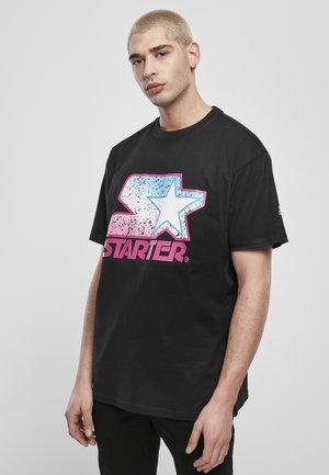 Print T-shirt - blk/pink