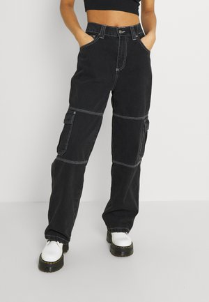 UTILITYPANT - Jeans relaxed fit - black
