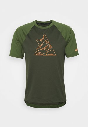 PUREFLOWZ MENS - T-Shirt print - forest night/bronze green