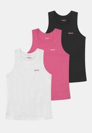 INDYA 3 PACK - Top - white/pink/black