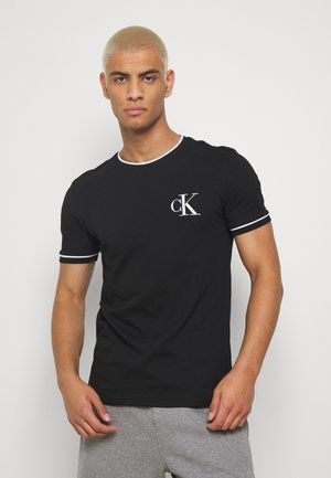 TIPPING CK ESSENTIAL TEE - Camiseta estampada - black