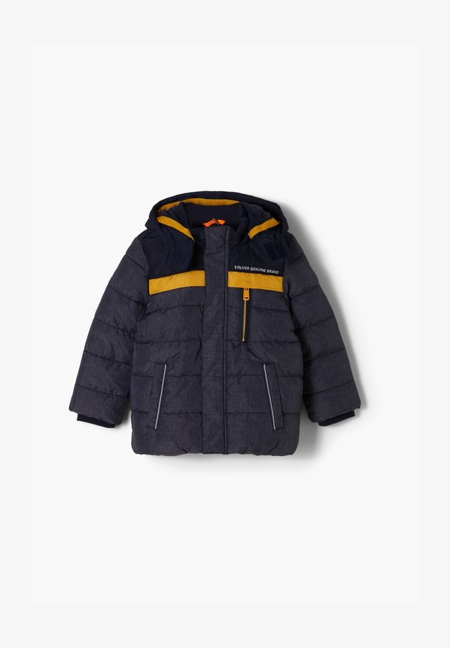 Winterjacke - dark blue melange